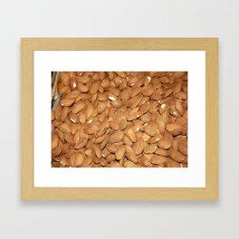 Peeled Almonds From Datca Framed Art Print