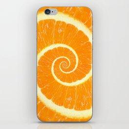 Spiral Citrus Orange Droste  iPhone Skin
