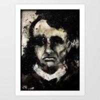Charles Baudelaire portrait gothique vintage victorien Art Print