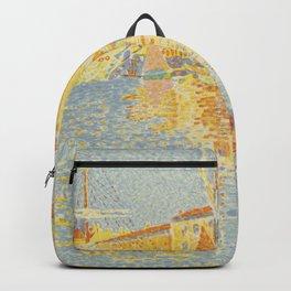 """Paul Signac """"The Buoy (Saint-Tropez, the Harbour) (La bouée (Saint-Tropez, le port))"""" Backpack"""