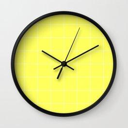 Graph Paper (White & Light Yellow Pattern) Wall Clock