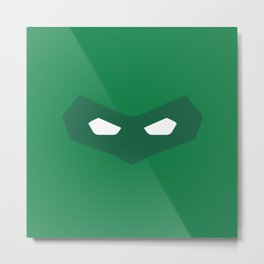 Green Lantern superhero Metal Print