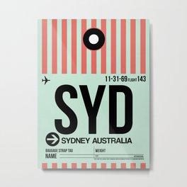 SYD Sydney Luggage Tag 1 Metal Print