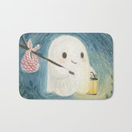 Little ghost in the night Bath Mat