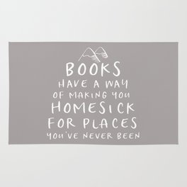 Books Have a Way of Making You Homesick (Grey) Rug