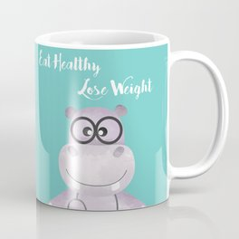Eat Healthy Lose Weight - Advice from Hippo the Doctor Coffee Mug