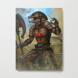 Death Dealer Sobek (humanized) - Smite Metal Print