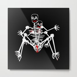 Sex Skeleton Metal Print