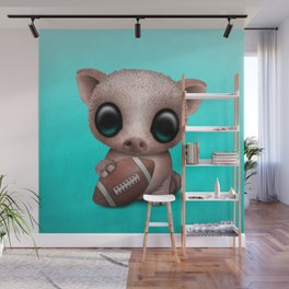 Baby Pig Playing With Football Wall Mural