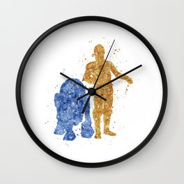 C3PO and R2D2 Star . Wars Wall Clock