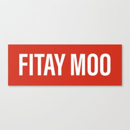 Fitay moo(facepalm) Canvas Print