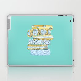 Golden Rings on Blue Laptop & iPad Skin