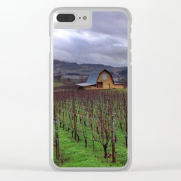Oregon Wine Country Clear iPhone Case