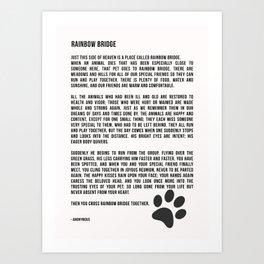 Rainbow Bridge Poem #inspirational #pet #love Art Print