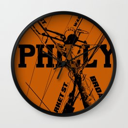 Philly Utility Wall Clock