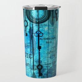 Blue Steam Punk Travel Mug
