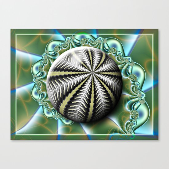 Sea urchin and shell Canvas Print