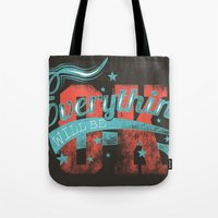reassurance Tote Bags featuring Reassurance  by Tshirt-Factory