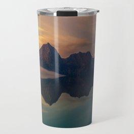 Fantasy mountain reflection Travel Mug