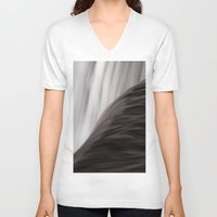 waterfall V-neck T-shirts featuring Waterfall by Alexandra Str