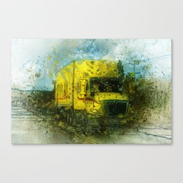 The Delivery  - Freight Truck Canvas Print