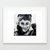 hepburn Framed Art Prints featuring Hepburn by Claire Goodspeed