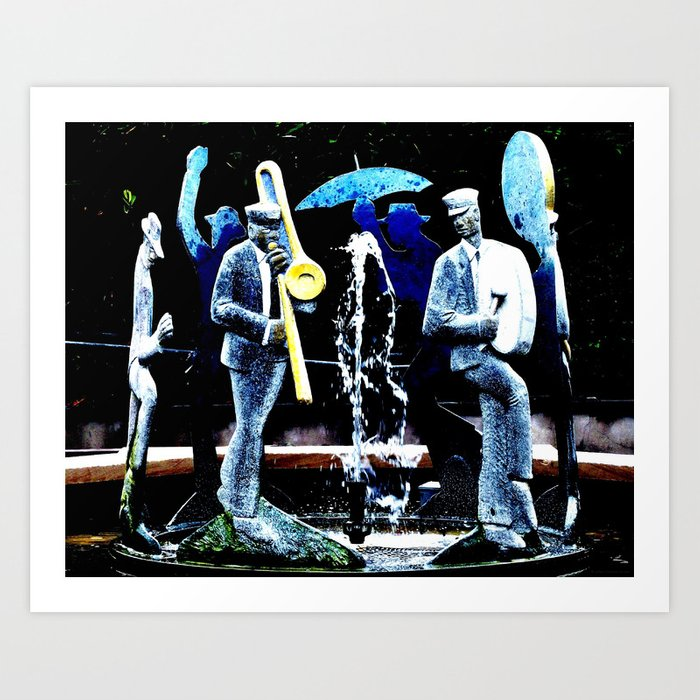 """NOLA's Fountain Boys"" Art Print"