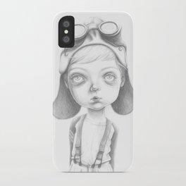 The little Steampunk boy iPhone Case
