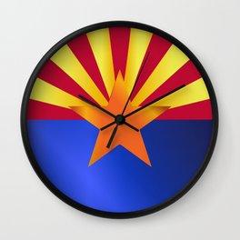 Arizona State Flag Gloss Wall Clock