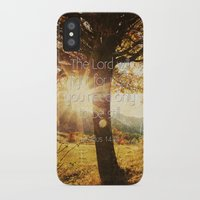 bible verses iPhone & iPod Cases featuring Typographic Motivational Bible Verses - Exodus 14:14 by The Wooden Tree