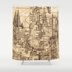 San Francisco! (Dusty) Shower Curtain