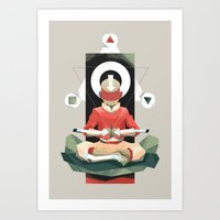 aang Art Prints featuring Aang Meditating by JC Franco