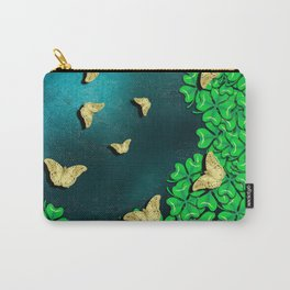 clover and butterflies Carry-All Pouch