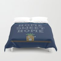 home sweet home Duvet Covers featuring Home Sweet Home by Phil Jones