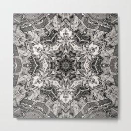 Structural Sepia City Metal Print