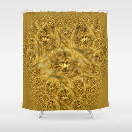Golden Facial Fractual Shower Curtain
