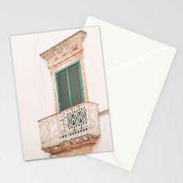 412. Green Shutters, Martina Franca, Puglia, Italy Stationery Cards