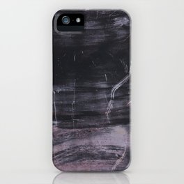 Purple and black abstract painting on metal iPhone Case