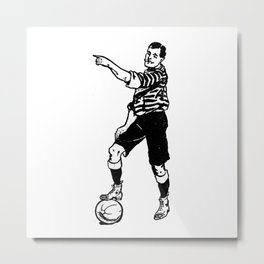 Football Soccer Metal Print