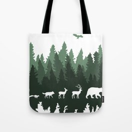 The Walk Through The Forest Tote Bag