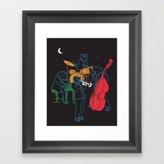 Animals plays Jazz Framed Art Print