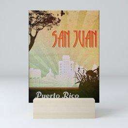 San Juan Retro Poster Mini Art Print