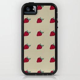 Strawsberry summer brown pattern iPhone Case