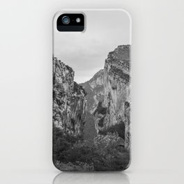 French Gorges in the winter [black and white] iPhone Case