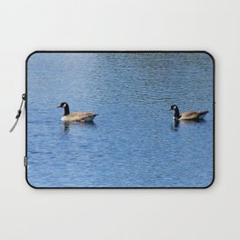 Pair of Geese Wading On A Lake Laptop Sleeve