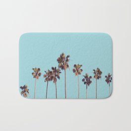 palm trees turquoise Bath Mat