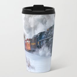 North Pole Express Train (Steam engine Pere Marquette 1225) Travel Mug