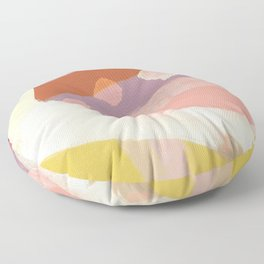 Ablaze Abstract Painting Floor Pillow