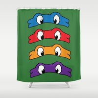 tmnt Shower Curtains featuring TMNT by Kaylabeaisaflea