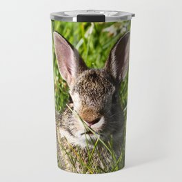 Young Cottontail Rabbit Travel Mug